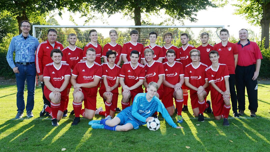 Mannschaftsfoto TSV Flintbek - Fussball - U18 - 2018