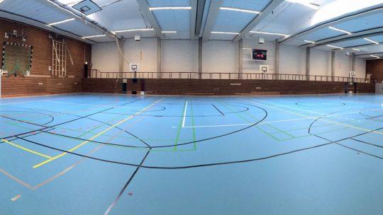 Neuer Hallenboden in der Eiderhalle