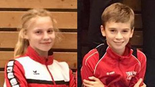Leichtathleten Josefine Schäkel und Hauke Trost