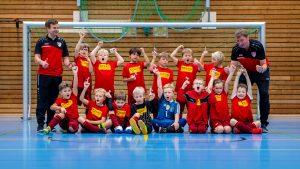 Flintbek, 8. Dezember 2018. Die F-Jugend des TSV Flintbek veranstaltet in der Eiderhalle ein Hallenfußball-Turnier.